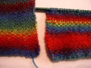 unfelted vs. felted yarn