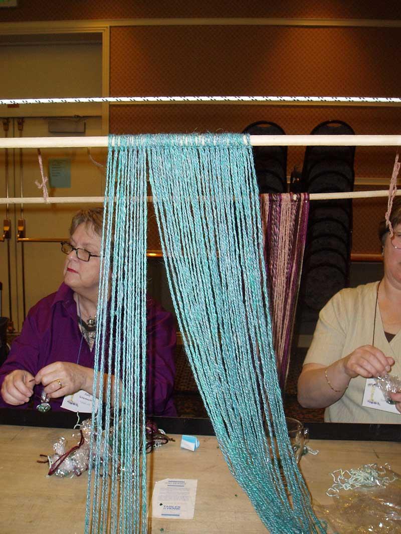 Warp Weighted Loom - Warp tie up