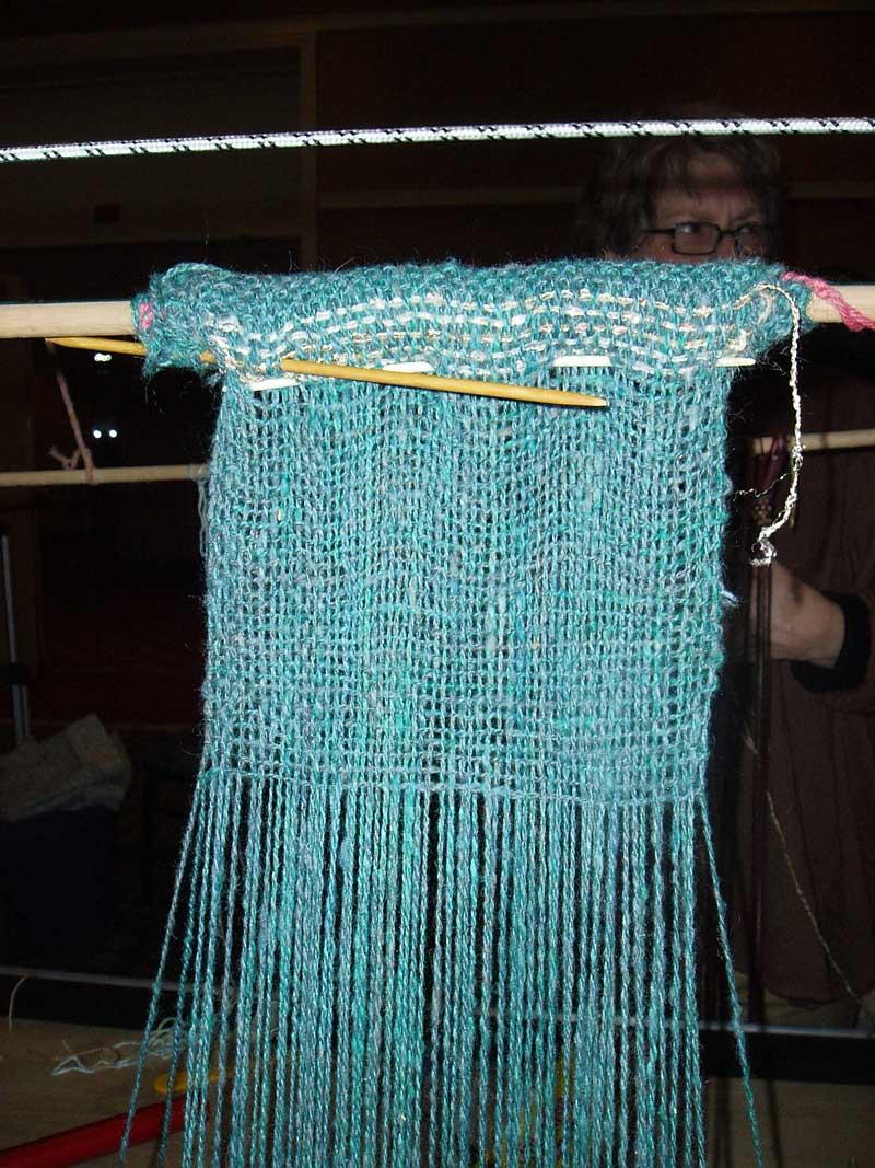 Warp Weighted Loom - Weaving