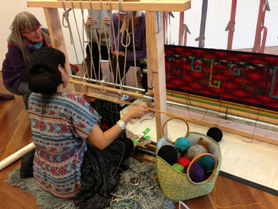 Melissa Cody weaving