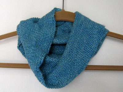 Sea Silk Cowl in Linen Stitch