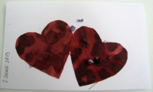 beaded hearts